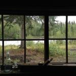 Looking out the restaurant window - so rustic!