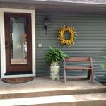 Front door to Pleasant View Bed & Breakfast