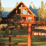 Front of Juniper Acres and beautiful front yard