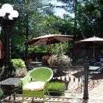 Beautiful outdoor garden seating