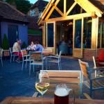 Enjoying the evening sunshine at The Dog & Badger