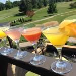 Flights offered for martinis, crushes and beer!
