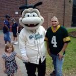 Mascot and us at the park