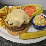 Our Double Cookouts Burger Deluxe!