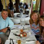 Al fresco dining at Isacco's