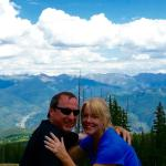 Top of Beaver Creek mountain in summer. Just engaged!