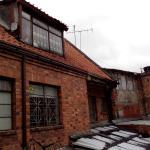 Vista do terraço para os fundos do hostel