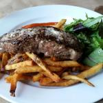 new york strip with french fries