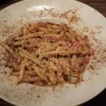 Cajun chicken penne pasta and blackened steak