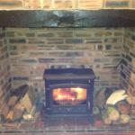 Warm log fire for the colder nights