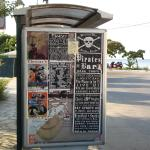 Fly Posting on Roda's Main Bus Stop