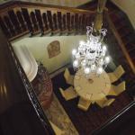 Hotel Grande Bretagne staircase to the breakfast room