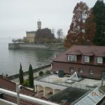 Blick vom Balkon auf Schloß Montfort