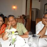 Father & Relative from India by table