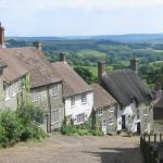 Gold Hill, near The Chalet guest house, Shaftesbury, Dorset.