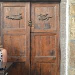 Doors at Gavalas Winery in the approximately 500 year old building