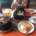 Molcaheta Guacamole and Molcaheta meal.  Also try the Enchiladas Del Mar.  Very very good!