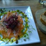 Gin cured salmon