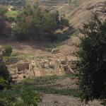 El yacimiento arqueologico desde la terraza del restaurante.