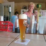 Wheat Beer...AWESOME with Ursula (owner) Serving