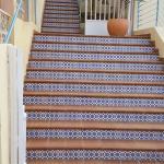 Otra vista de las escaleras