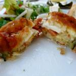 Aubergine,tomato and halloumi cheese parcel