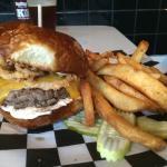 The Palomino burger and regular fries