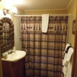 see the mirror and vanity lights along with shower curtain! love it!