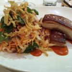 Crispy Pork Belly with Asian Cabbage Salad