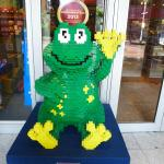 inside toy store Lego frog
