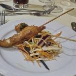 New Ship: Sesame chicken skewers with teriyaki marindate
