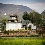 View from rice fields - Shaxi Od Theatre Inn - Yunnan China