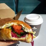 Food and coffee at Taylor st Baristas in Brighton