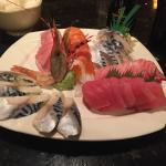 large sashimi dinner.