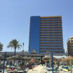 Hotel from Los Boliches beach