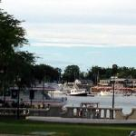 Harbor View from outdoor seating