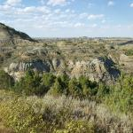 Badlands nearby are beautiful