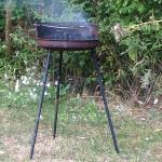 Petit barbecue après la piscine