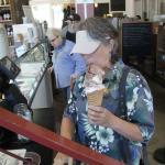 A huge ice cream cone