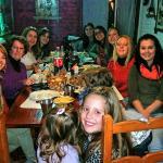 mesa de chicas, cena parrilla