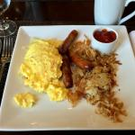 Olive at the Hilton - Scrambled eggs, Hash Browns & Sausage