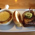 French onion soup and rueben sandwich, Applebee's  |  1204 18th St, Brandon, Manitoba R7A 5C3, C