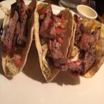 Steak and fish tacos