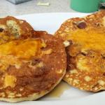 Maple Cheddar Bacon Pancakes