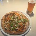 Thai Chicken Pizza and a beer. Very good lunch.