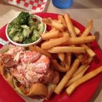Lobster salad roll with 2 sides