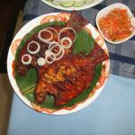 Karimeen Masala Fried...a popular local fish