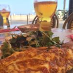 Omelette with an ocean view