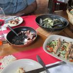 Polvo, Mexilhões, Atum escabeche e umas Sopas de peixe foram os nossos petiscos