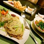 My favourite phadthai noodles and phad phak vegetables...